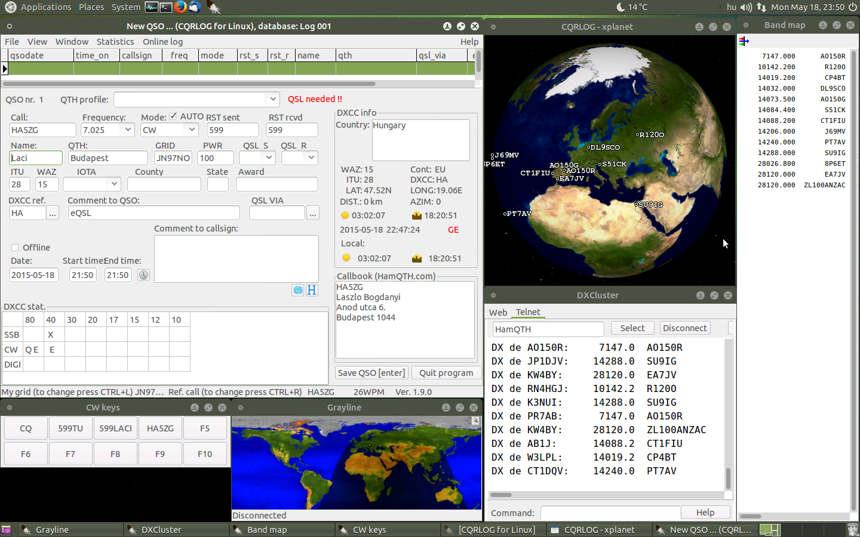 CQRLOG 1 9 0 for Raspberry Pi 2   CQRLOG